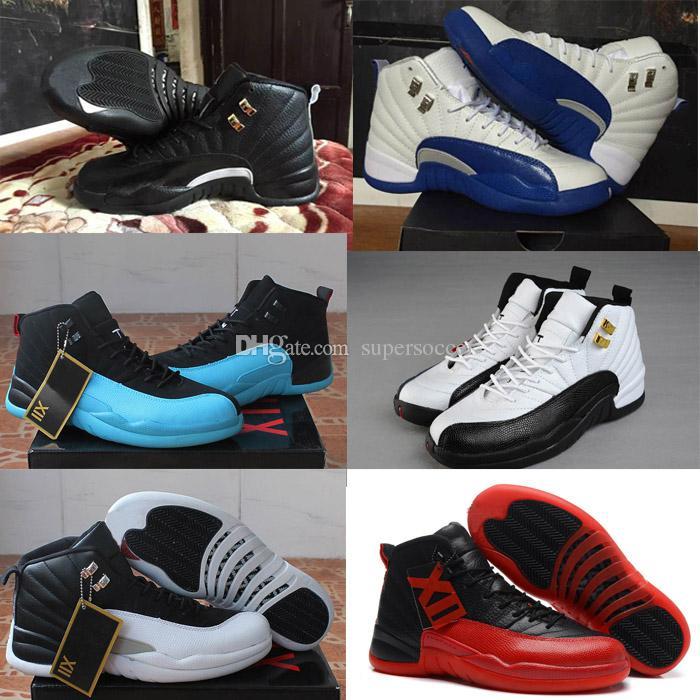 super popular d6827 43161 Großhandel Hohe Qualität Basketball Schuhe Männer 12 S Grippe Spiel  Französisch Blau 12 S Die Master Gym Red Taxi Playoffs Schuhe Von  Supersoccer, ...