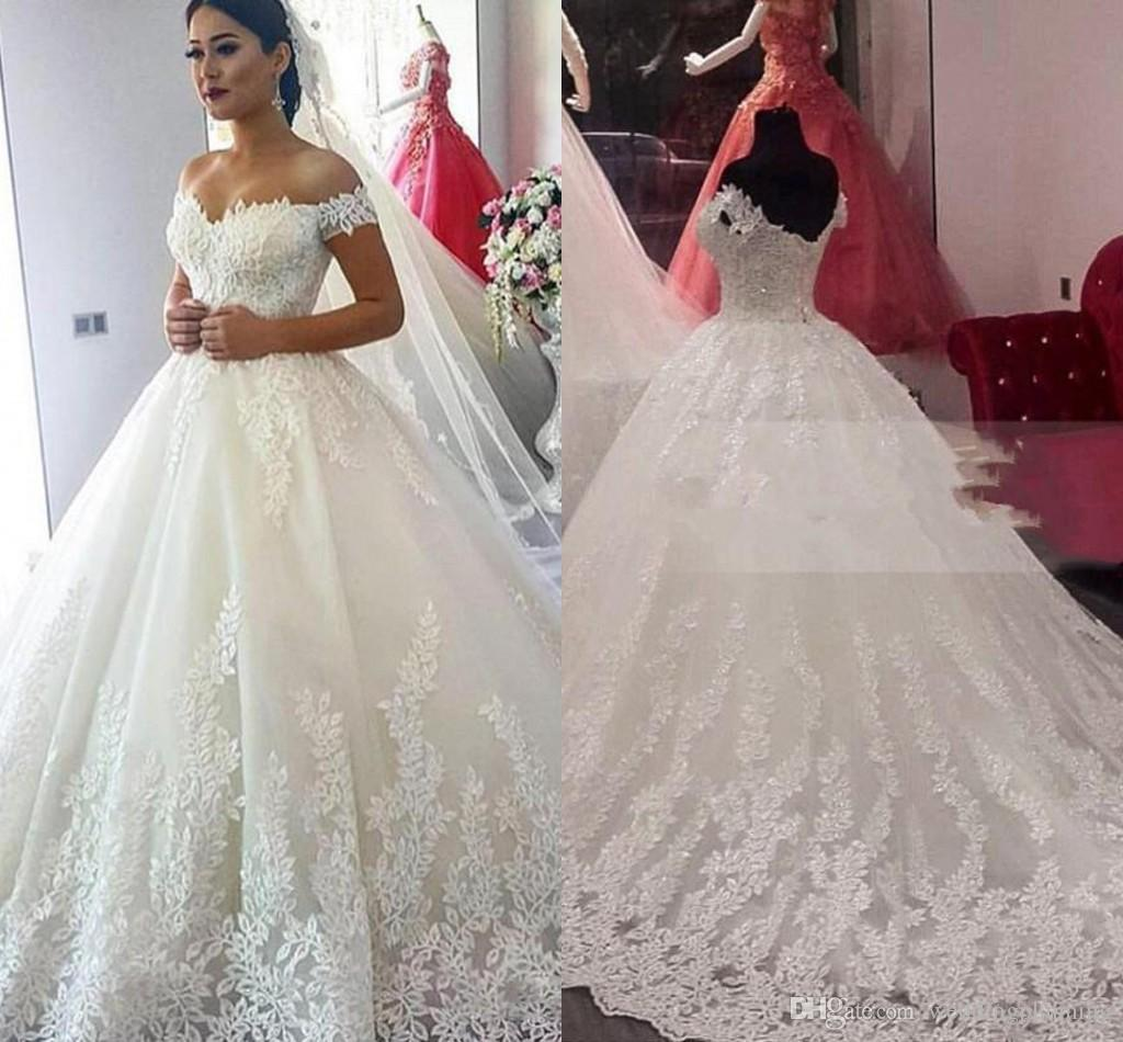 2017 luxury vintage rich dubai wedding dresses arabic lace for Wedding dress in dubai