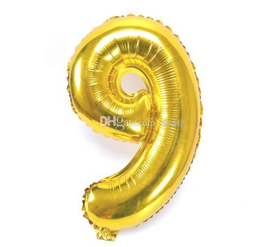 Novo 40 polegada Número de Prata de Ouro Balões Foil Dígito Balão de Aniversário de casamento balão inflável festa de casamento Festa Suprimentos