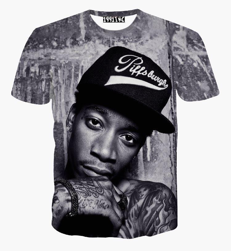 Compre Nueva Moda Hombres   Mujeres Hip Hop Rock Cantante Punk 3d Camiseta  Wiz Khalifa 2pac Camiseta Divertida Casual Camisetas De Verano Ropa  Superior A ... e04a0e056c3