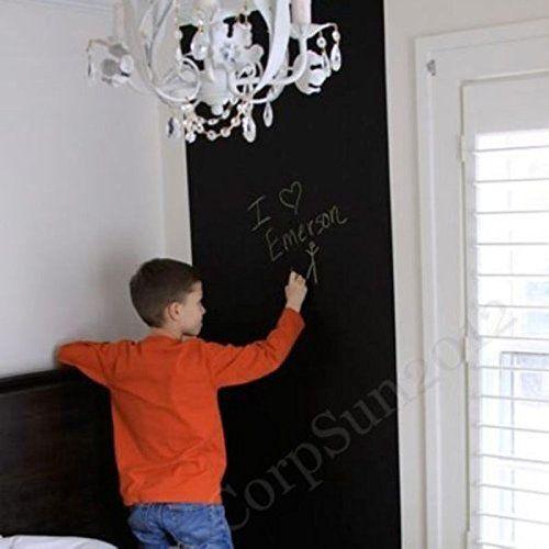 Kreda Deska Blackboard Naklejka Wymienny Naklejka Winylowa Stricker 45cm * 200 cm Wodoodporna bez kredek Nauczają Dzieci Prezenty