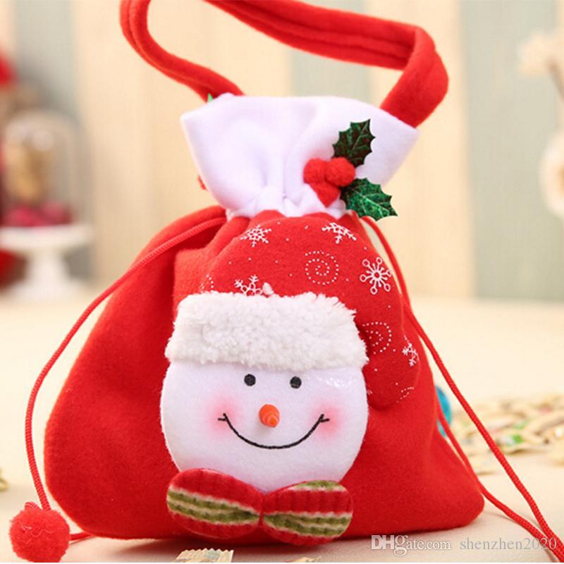 2017 جديد أزياء هدية عيد الميلاد سانتا نمط زينة الزفاف هدايا عيد الميلاد أكياس الحلوى حقيبة جميلة للأطفال