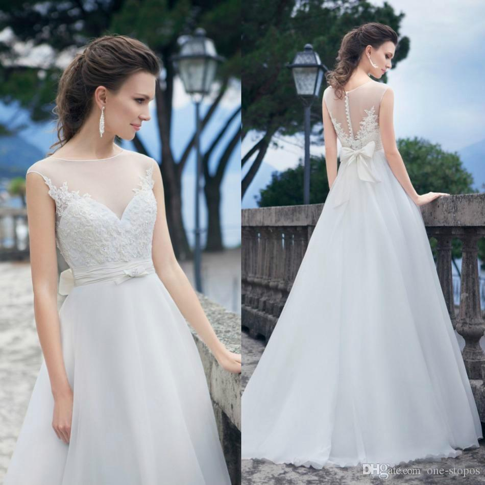 Garden Wedding Gowns: Discount Custom Made Modest Garden Wedding Dress Bridal