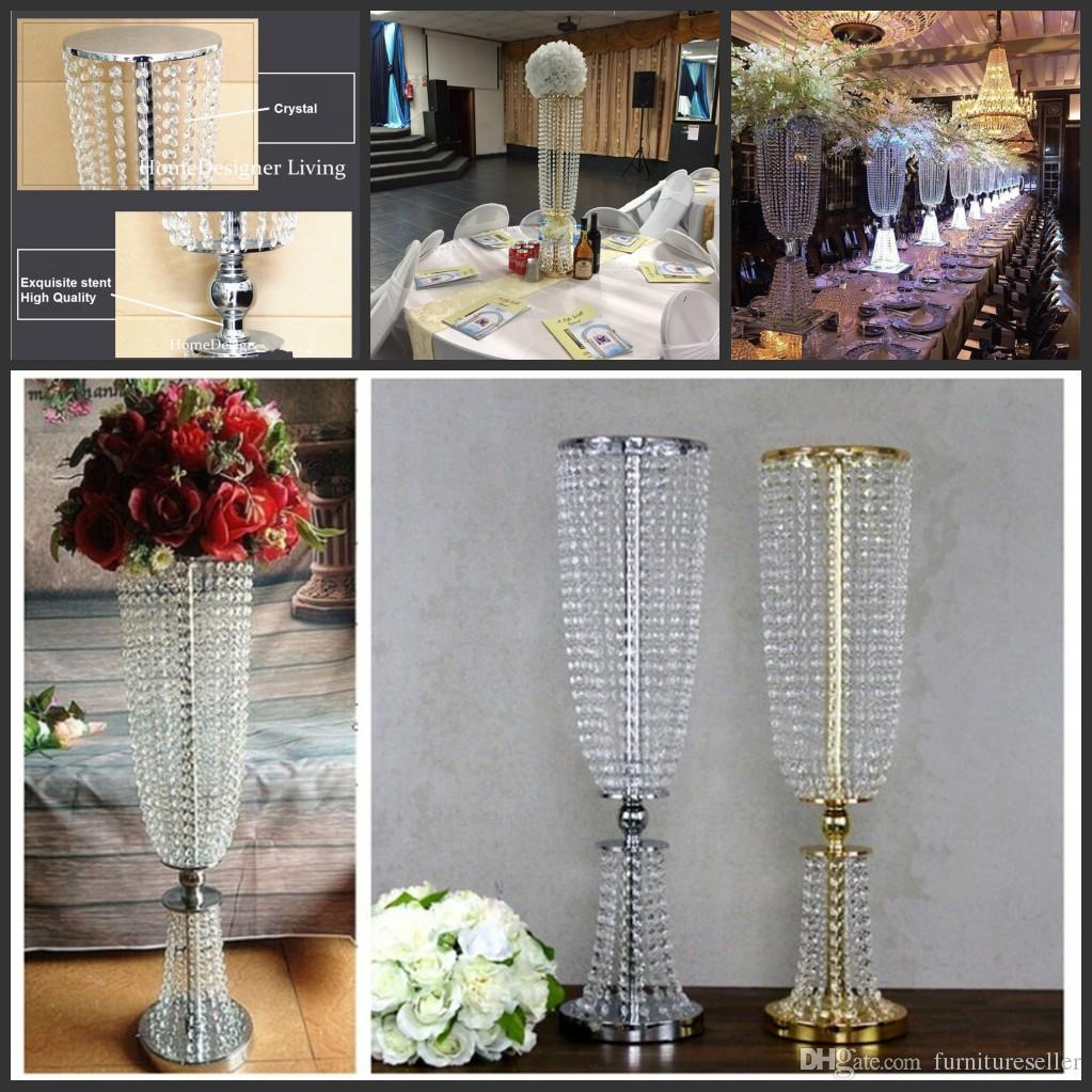 80cm31 Height Acrylic Crystal Wedding Centerpiece Road Lead Stand