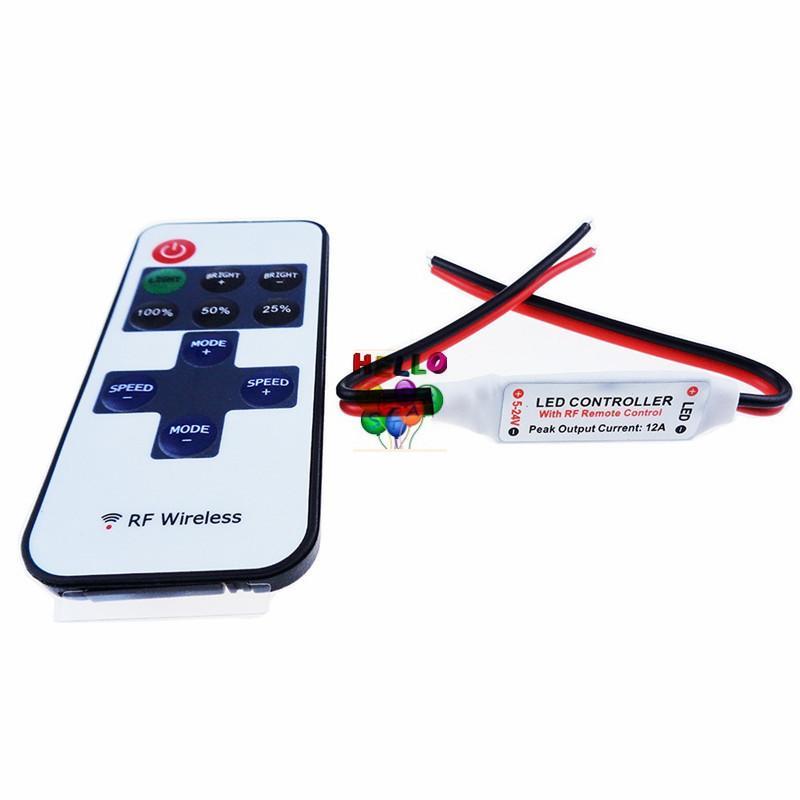 Delicate Single Color Remote Control Dimmer DC 12V 11keys Mini Wireless RF LED Controller for led Strip light