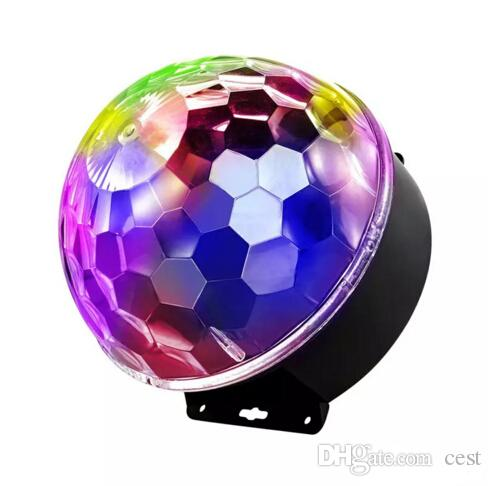 2017 MiNi LED Remote Control Small Magic Ball AC110-240V 3W Voice Control Rotating Colorful KTV Flash Stage Light