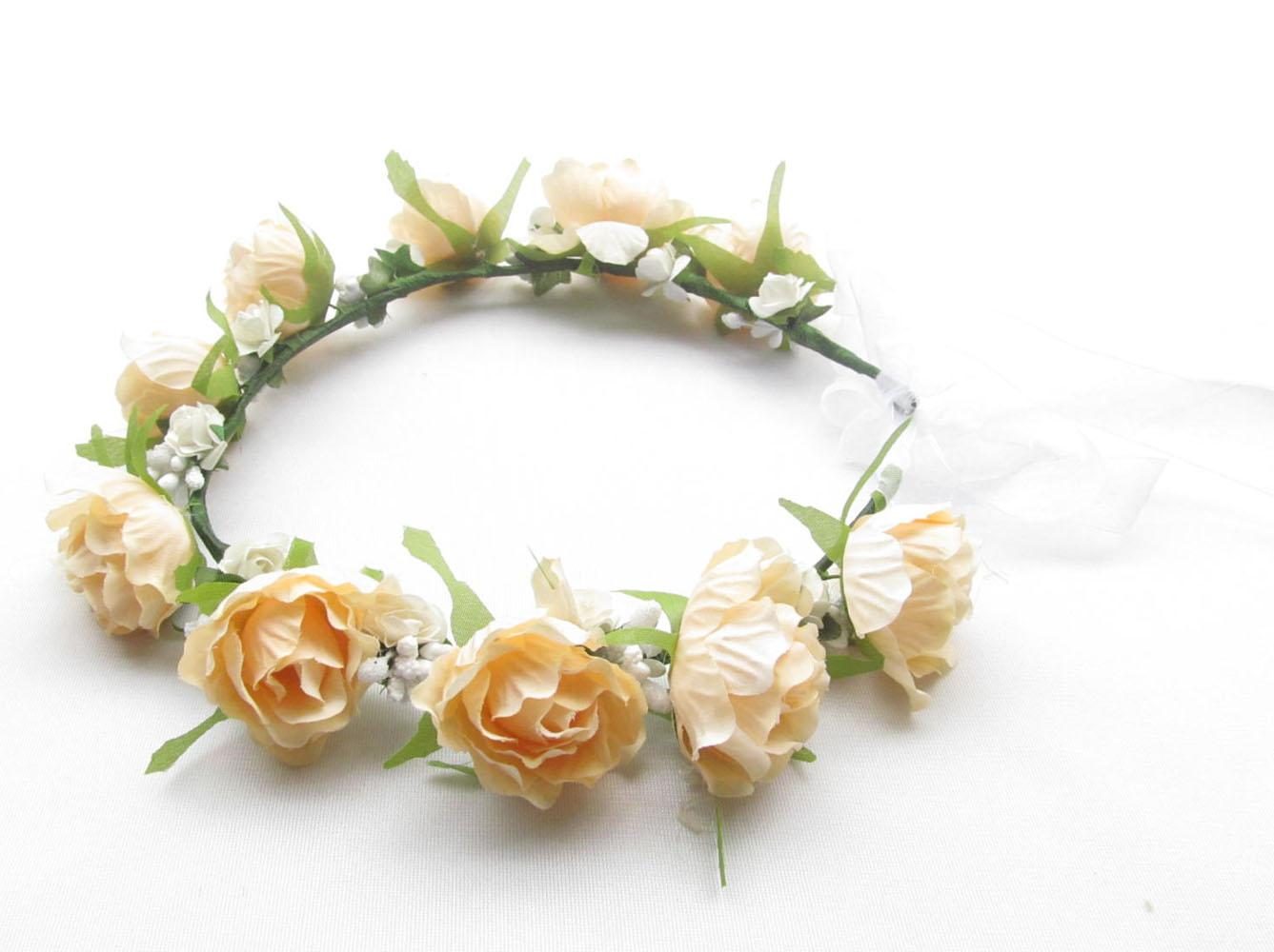 2018 100 Handmade Silk Rose Flower Headbands With Ribbon For