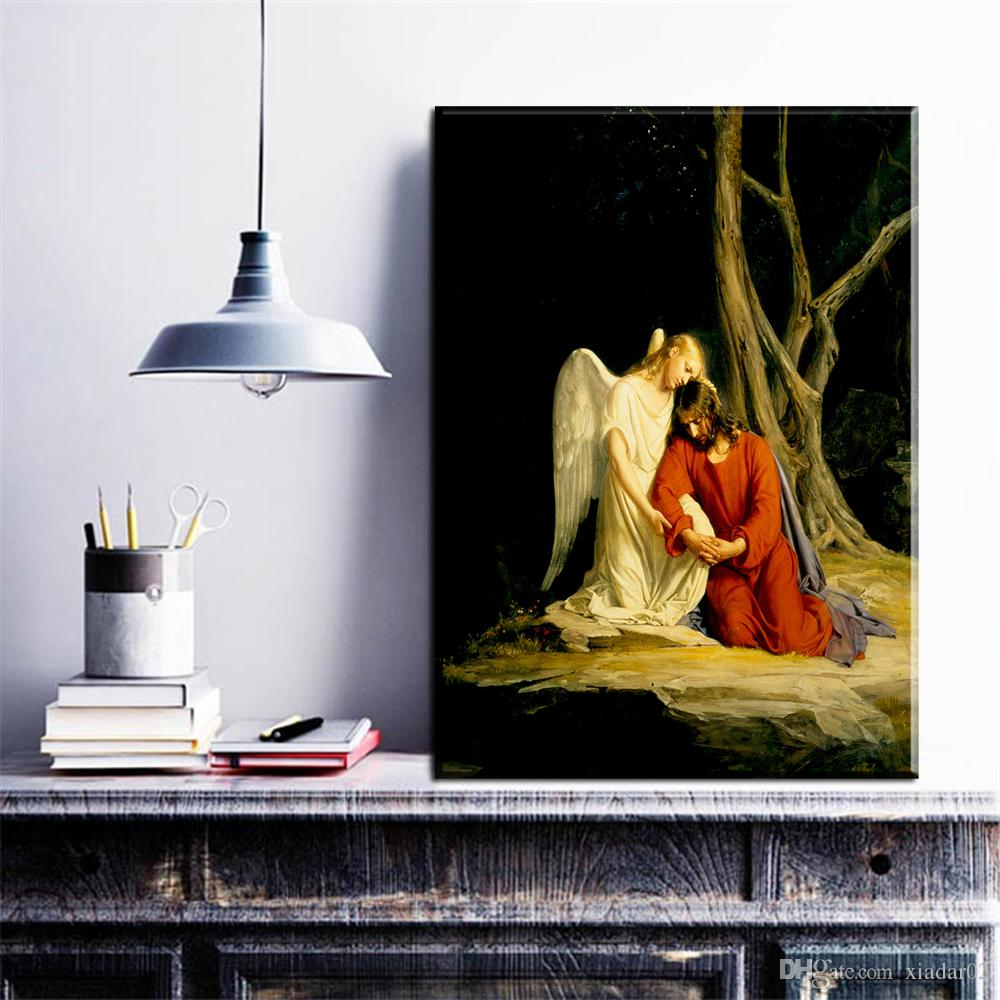 26eac24a21c0 2019 ZZ1976 HD Print Canvas Wall Art Prayer Jesus Gethsemane Garden Painting  Art Home Decor Canvas Art Print Painting On Canvas From Xiadar02, ...
