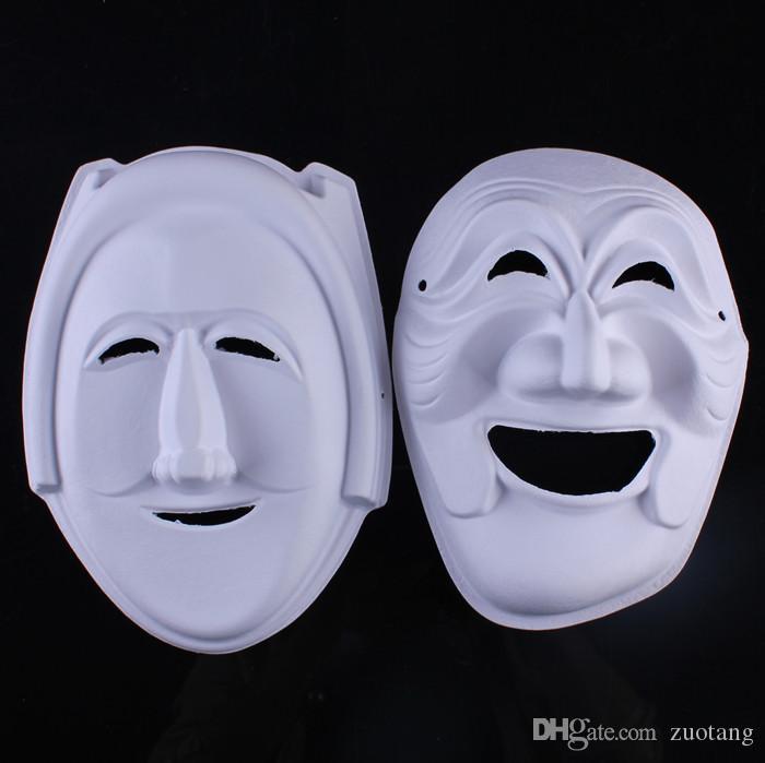 Satın Al Sihirbazı Boyasız Beyaz Maske Tam Yüz çevre Kağıt Hamuru