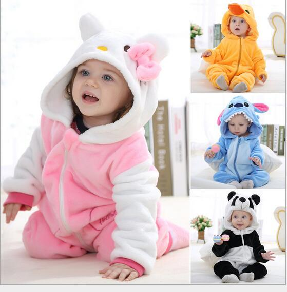 2fe070f9f 2019 Spring Autumn Baby Clothes Flannel Baby Boy And Girl Clothes Cartoon  Animal Jumpsuit Baby Girl Rompers Baby Clothing 8 Style Select From  Angelcheng2013 ...