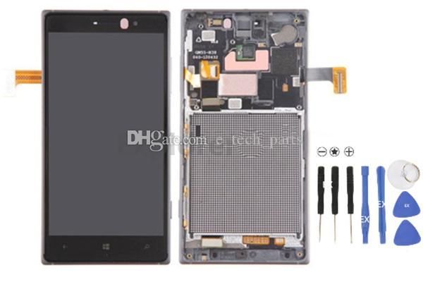 اختبار مرت لنوكيا Lumia N830 العرض 830 LCD + شاشة تعمل باللمس محول الأرقام الجمعية مع الإطار زجاج عدسة 100٪ الأصلي شحن مجاني جديد