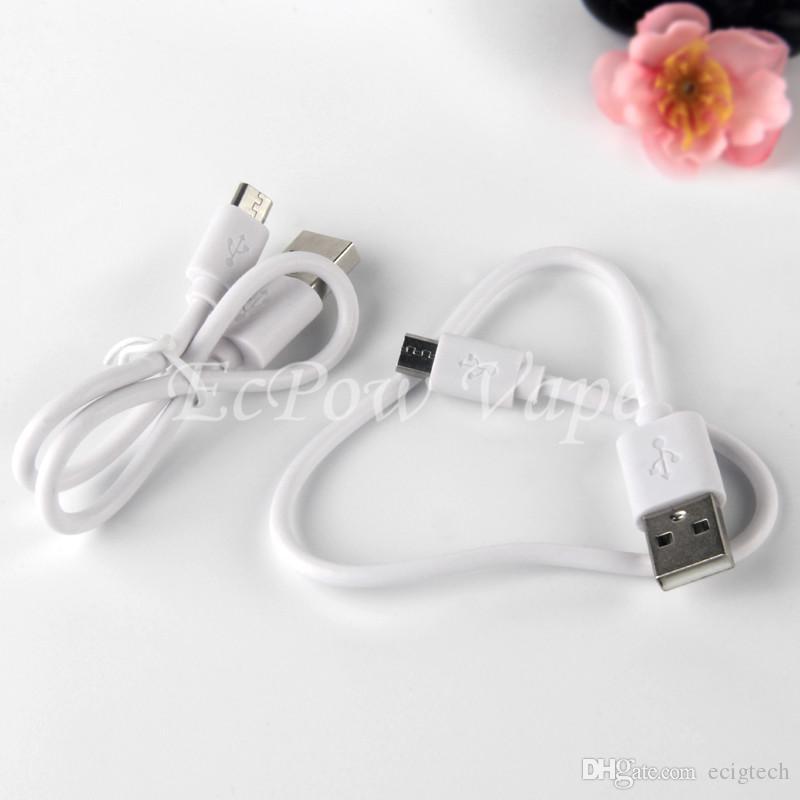Caricabatteria micro USB Cable Charger ECIG Carica carica USB2.0 Micro caricabatterie 310mm sigaretta elettronica e caricamento del telefono Android 310mm