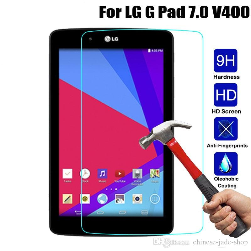 Para LG G Pad V400 V480 V500 V700 V495 V930 VK815 V525 V755 8.0 FHD F2 Echo Mostrar 9H Protetor de tela de vidro temperado Premium / lote