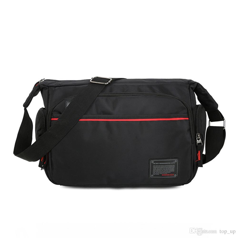 Lightweight Nylon Cross Body Bag Men'S Casual Work Bag Business ...