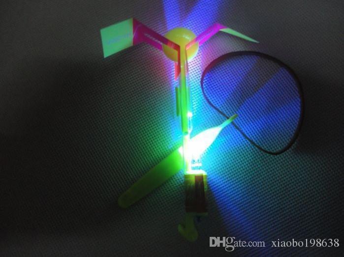 Luminous Big Slingshot Catapult Arrows Flying Fairies Flash Helicopter Flying LED Light Emitting Children's Outdoor Gaming Toys