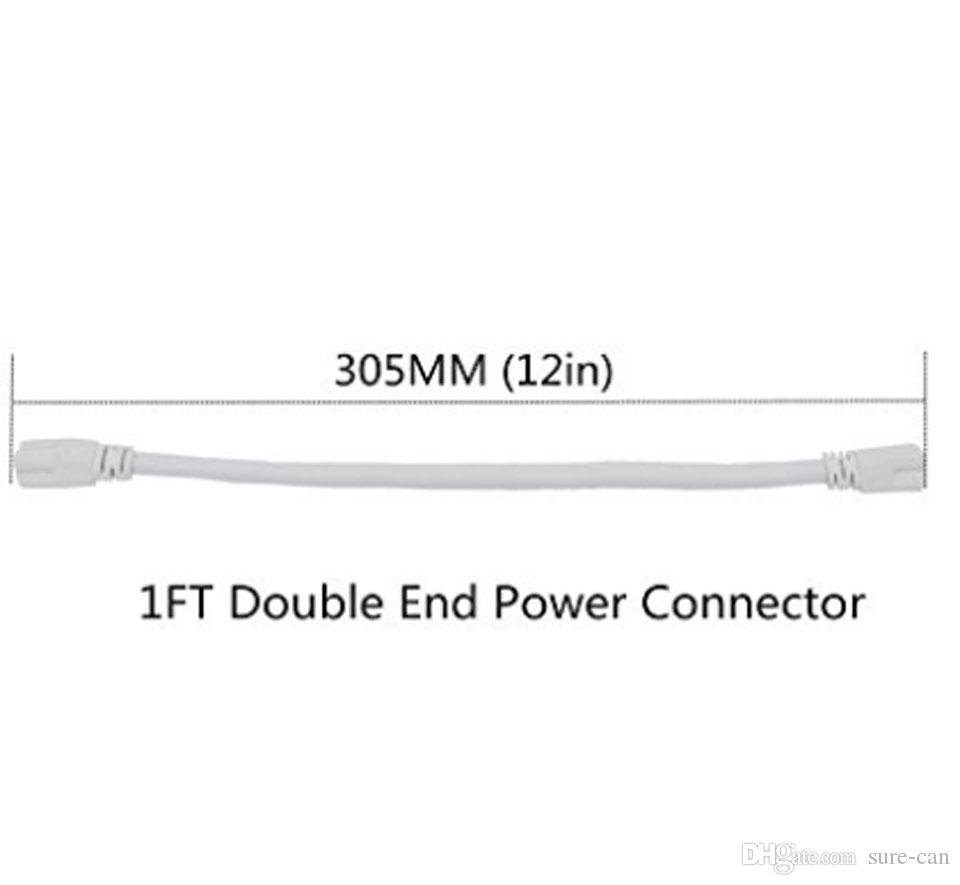 1-футовый 2-футовый 3-футовый 4-футовый 5-футовый удлинитель T5 Разъем T8 Кабель Шнур Провод Двойной конец Соединительный кабель Для встроенного светодиодного люминесцентного светильника