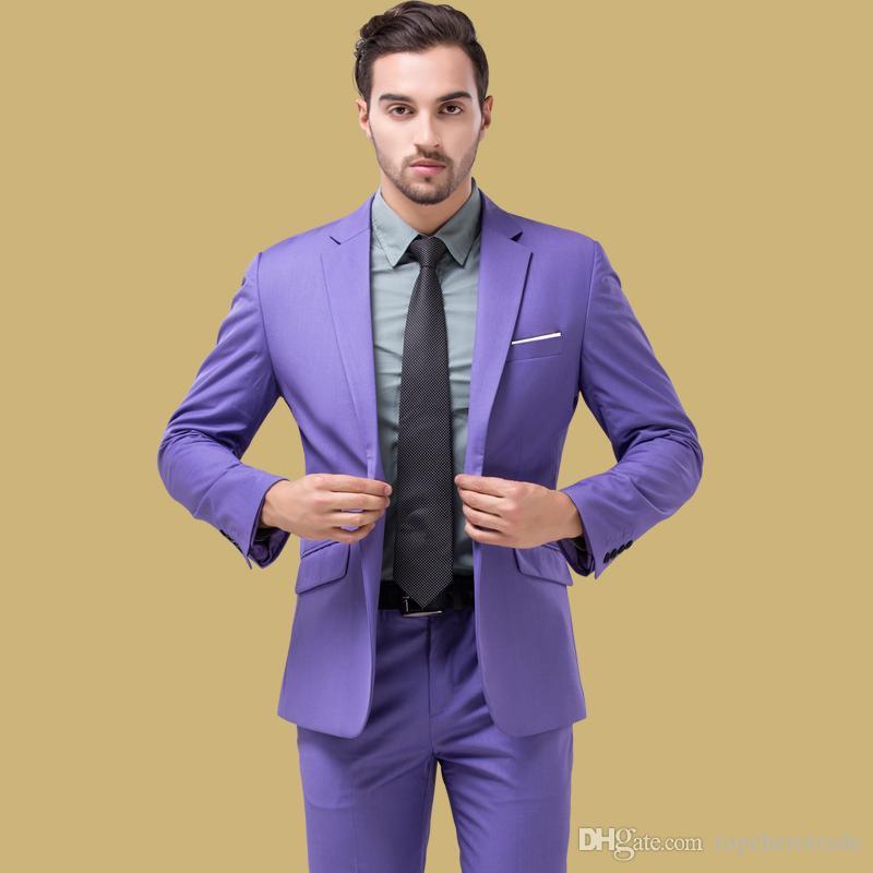 Best Lavender Suit Business Suits Suit Korean Version Of Slim ...