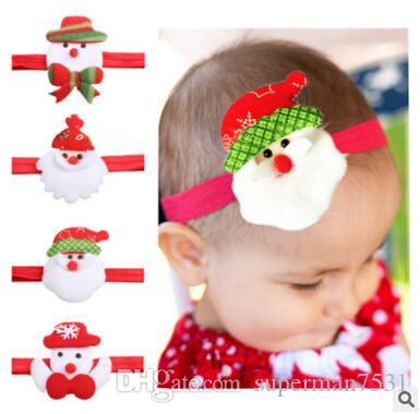 hot christmas gifts holiday party children cartoon hair with europe and the united states baby hair accessories wholesale christmas hair band children kids