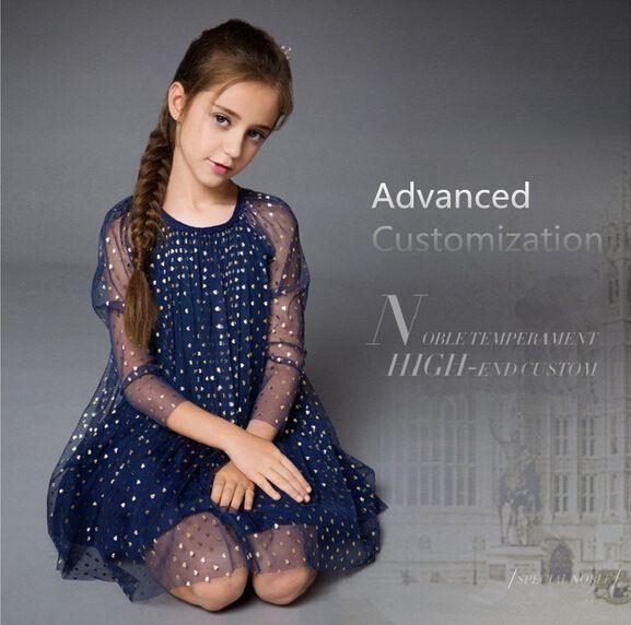 2019 Children SUMMER Skrit England Style Girl Hot Selling Princess Party Dress  Girls Lace Knee Length Dress Kid Net Yarn Sequins Princess Dress From ... 79855883bac6