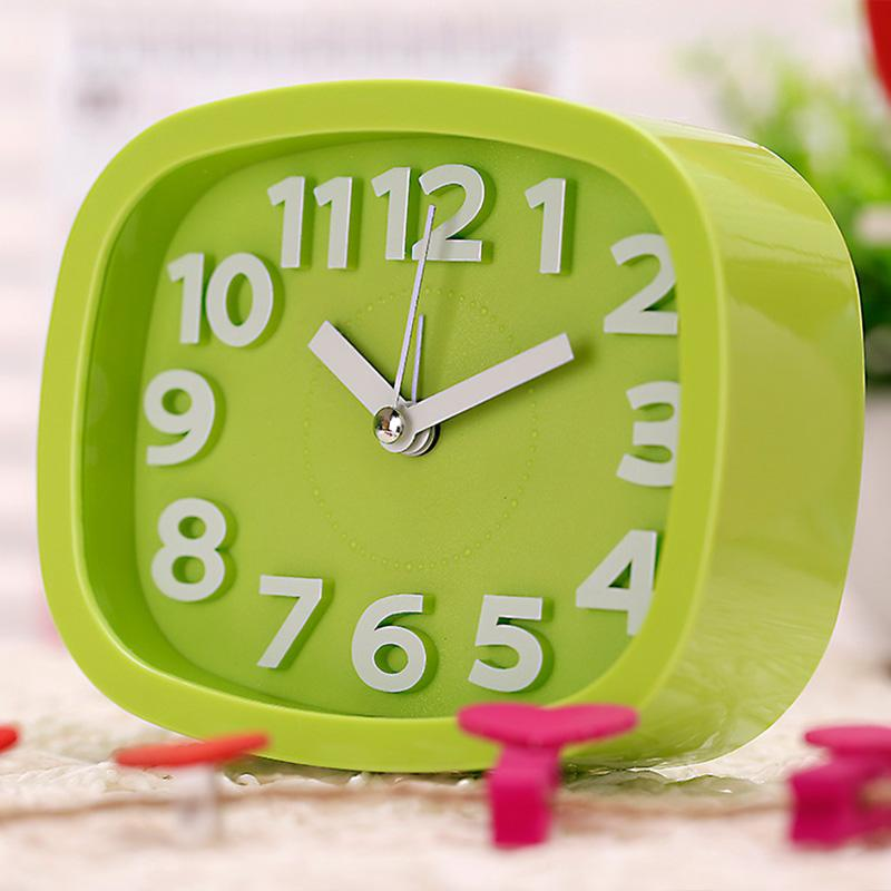 New Design Alarm Clock Kids Students Bedroom Desk Table Clock Living Room  Home Decoration Candy Color Candy Nurse Table Clock Cheap Candy Turquoise  Online ...