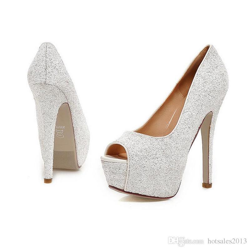 Lady Gorgeous Nightclub Evening Shoes Super High Heels Sandals Woman Dress Shoes Gold Wedding Bridal Dress Shoes