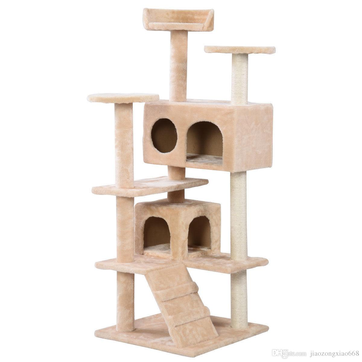 New Cat Tree Tower Condo Furniture Pet House Beige