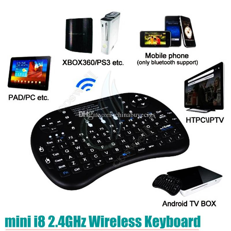 mini i8 2.4G Wireless Batteria RII batteria ricaricabile Touchpad Telecomando Fly Air Mouse PC Pad Google Andriod TV Box Xbox360 PS3 DHL