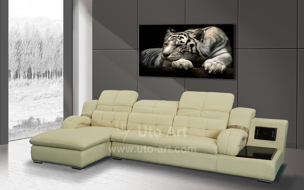 Modern Home Decoration Painting White Tiger Art Prints Digital Painting Set Canvas Prints Picture for Living Room Dropship Cheap