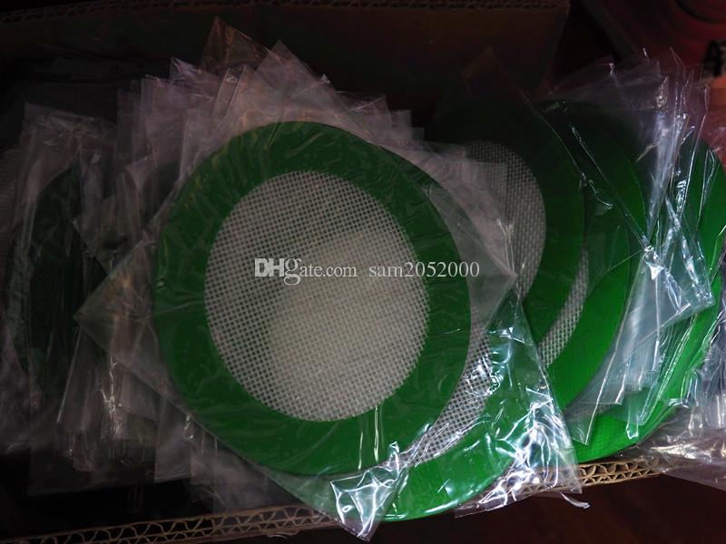 Approuvé par la FDA grren forme ronde tapis de silicone cire tampons antiadhésifs tapis de cuisson de tapis de cuisson de qualité alimentaire pour tapis de cuisson au four de silicium sec