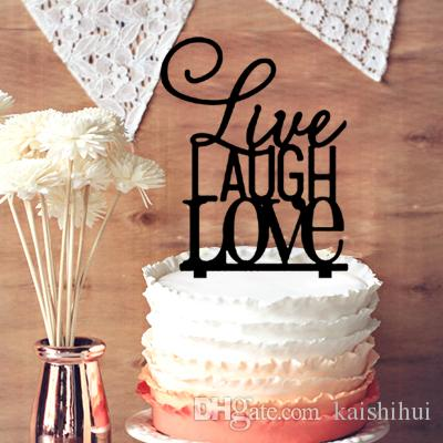 2018 Live Laugh Love Monogram Cake Topper Wedding For Decoration Chic Letters From Kaishihui 14 74 Dhgate Com