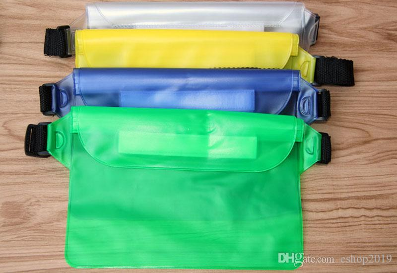 Wholesale PVC Waterproof Swimming Bags Waist Pack Bags Outdoor Bags Underwater Dry Pocket Cover for Cell Phones