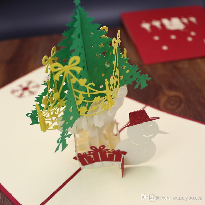 3d merry christmas tree greeting cards postcards birthday gift 3d merry christmas tree greeting cards postcards birthday gift message card thanks giving card wholesale cards happy birthday cards of birthday from m4hsunfo