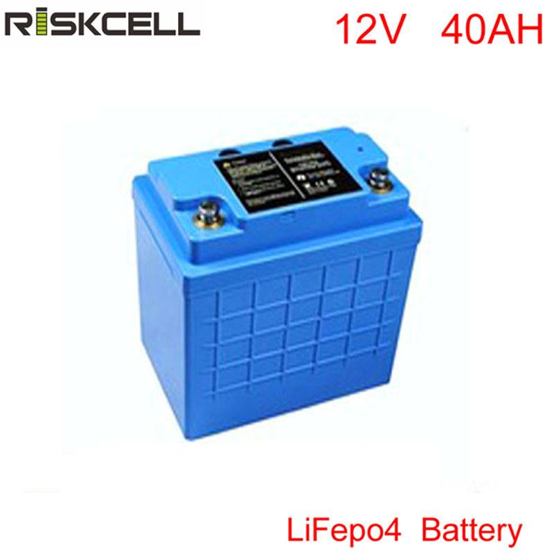 Free to RU Lithium 12v 40Ah Battery for Electric Bike, Audio Equipment, Trolling Motor, Ice Auger, Lifepo4 LFP 12v 40ah