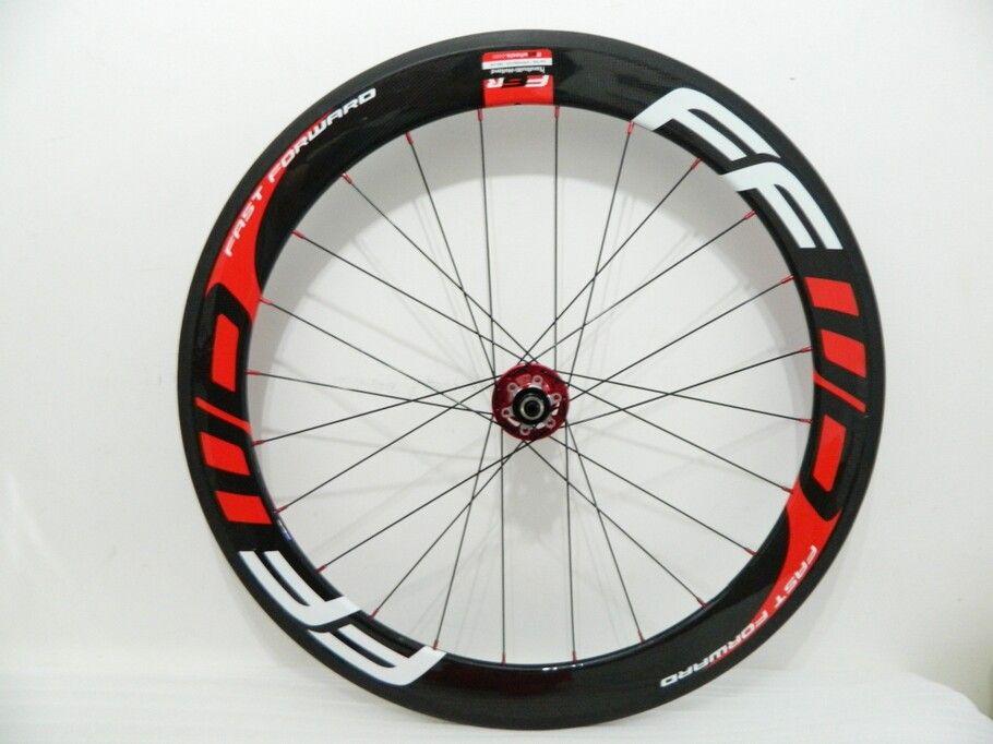 디스크 브레이크 레드 블랙 FFWD 60mm 바퀴 700C * 23mm 탄소 도로 자전거 Clincher 관형 자전거 휠셋 레드 허브