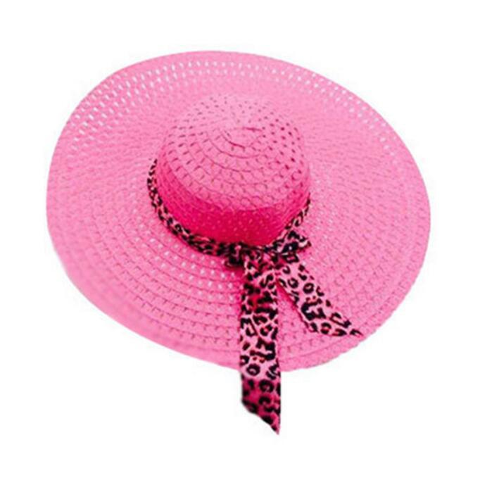2016 New Wide Brim Floppy Fold Sun Hat Summer Hats for Women Out Door Sun Protection Straw Hat Women Beach Hat
