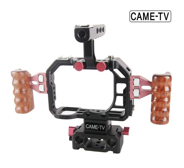 CAME-TV Sony a7S ILCE-7S Cage with Side wooden Handles