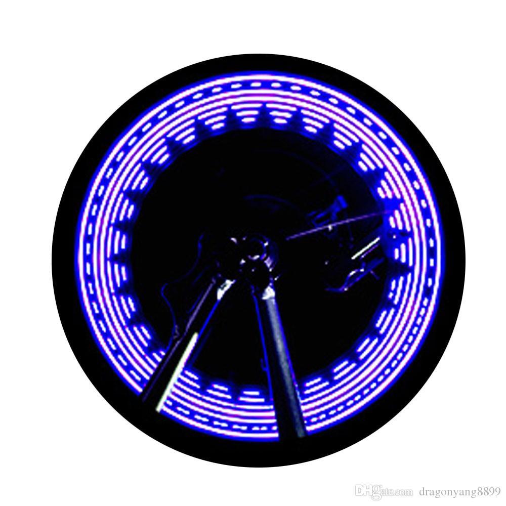 Alta Qualidade Da Bicicleta Da Bicicleta Da Roda Luzes LED Lâmpada Do Pneu Da Lâmpada de Gás Lâmpada Cool Colorful Luzes 3 Cores Acessórios de Ciclismo Atacado