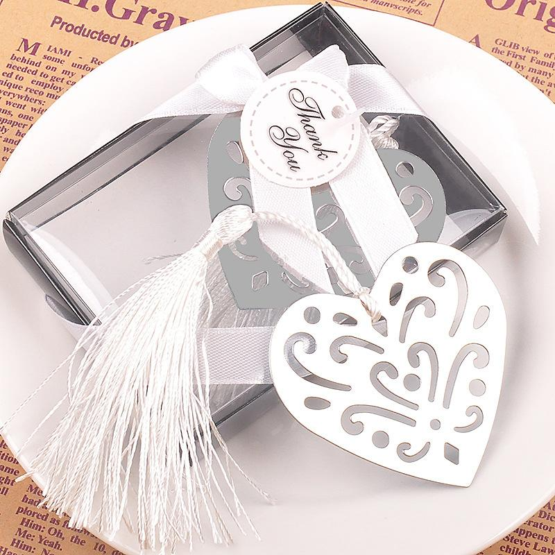 Metal Bulk My Heart Bookmark First Communion Birthday Baby Shower Wedding Favors and Gifts For Guest wen4474