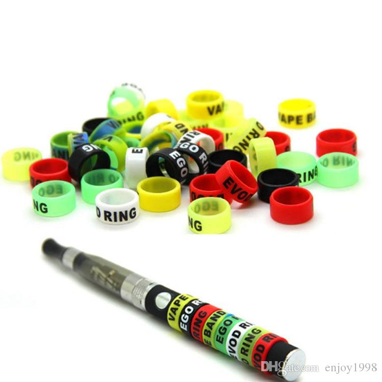 Non-Slip Silicon Vape Band Rings EGO Battery Silicone Protection Ring For Vision EVOD EGO Series Ecigs