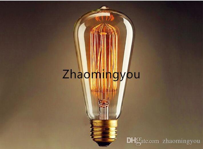 40 와트 / 60 와트 클래식 빈티지 레트로 E27 필라멘트 ST64 에디슨 전구 따뜻한 화이트 110 볼트 220 볼트 골동품 백열 전구 램프