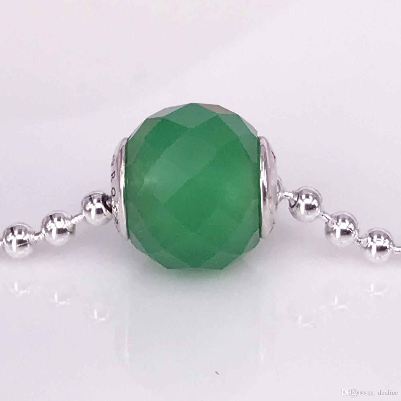 89b1222e6 2019 Authentic 925 Sterling Silver Essence Style PROSPERITY, Green ...