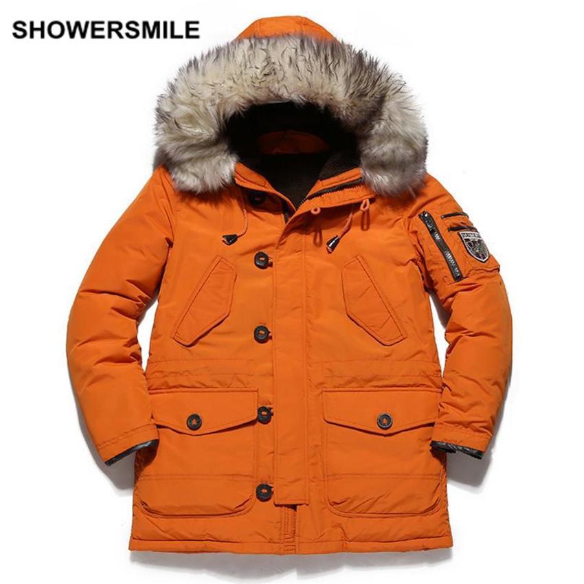2017 Wholesale Duck Down Jacket Men Winter Coat With Fur Hood ...