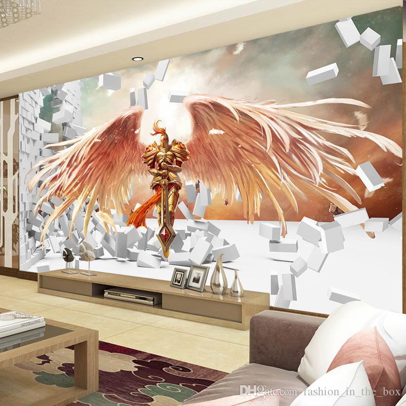 3d game wallpaper league of legends photo wallpaper 3d brick wall murals bedroom boys room decor. Black Bedroom Furniture Sets. Home Design Ideas