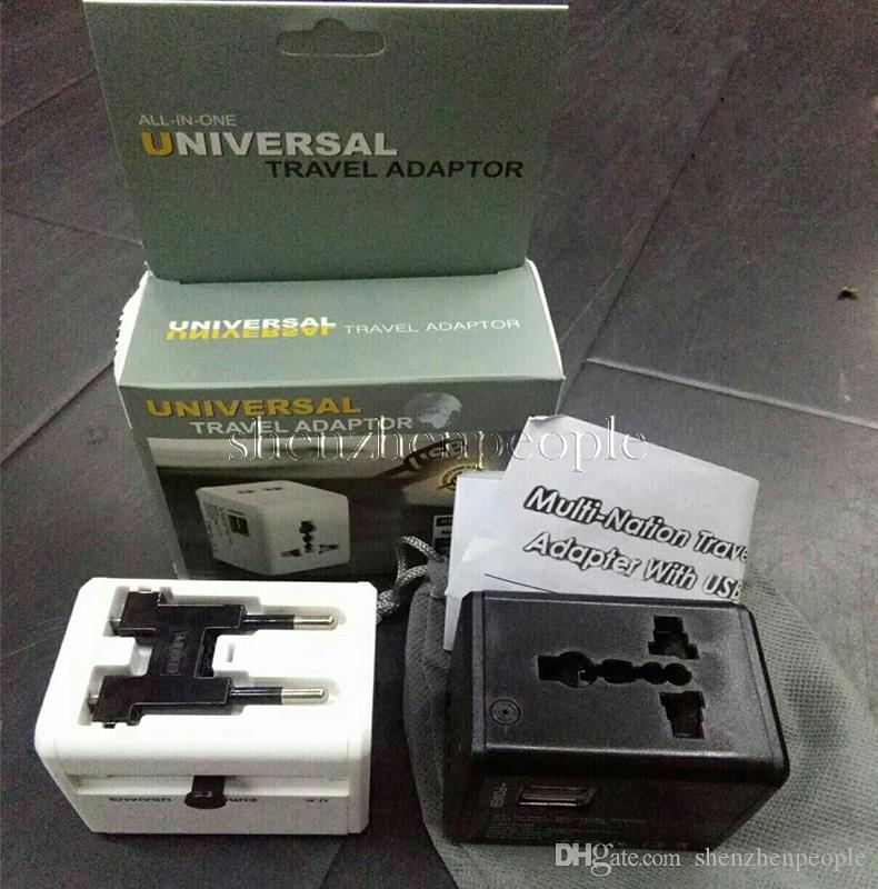 USB port Worldwide Travel Adapter AC TO USB Power Wall Charger US EU UK AU Plug 5V 2.1A For tablet pc Mobile phone