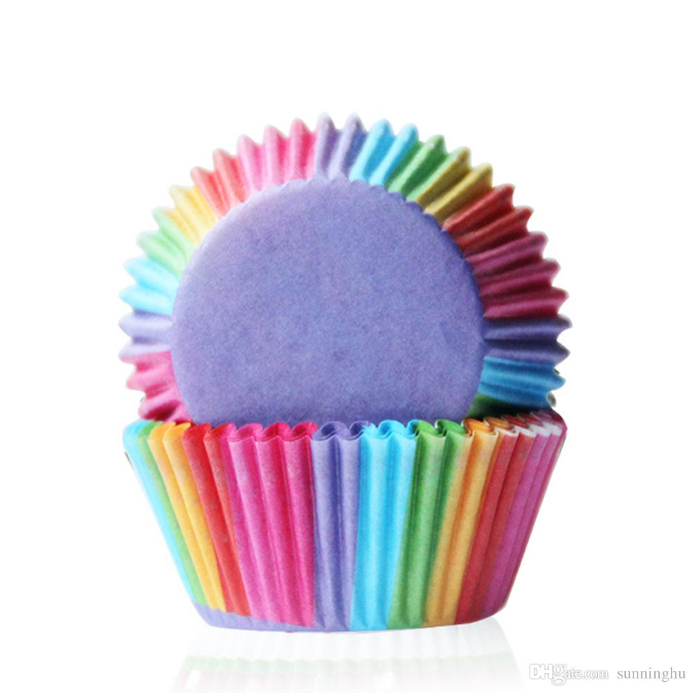 Wholesale Rainbow Color Cupcake Liner Baking Cup Cupcake Paper ...