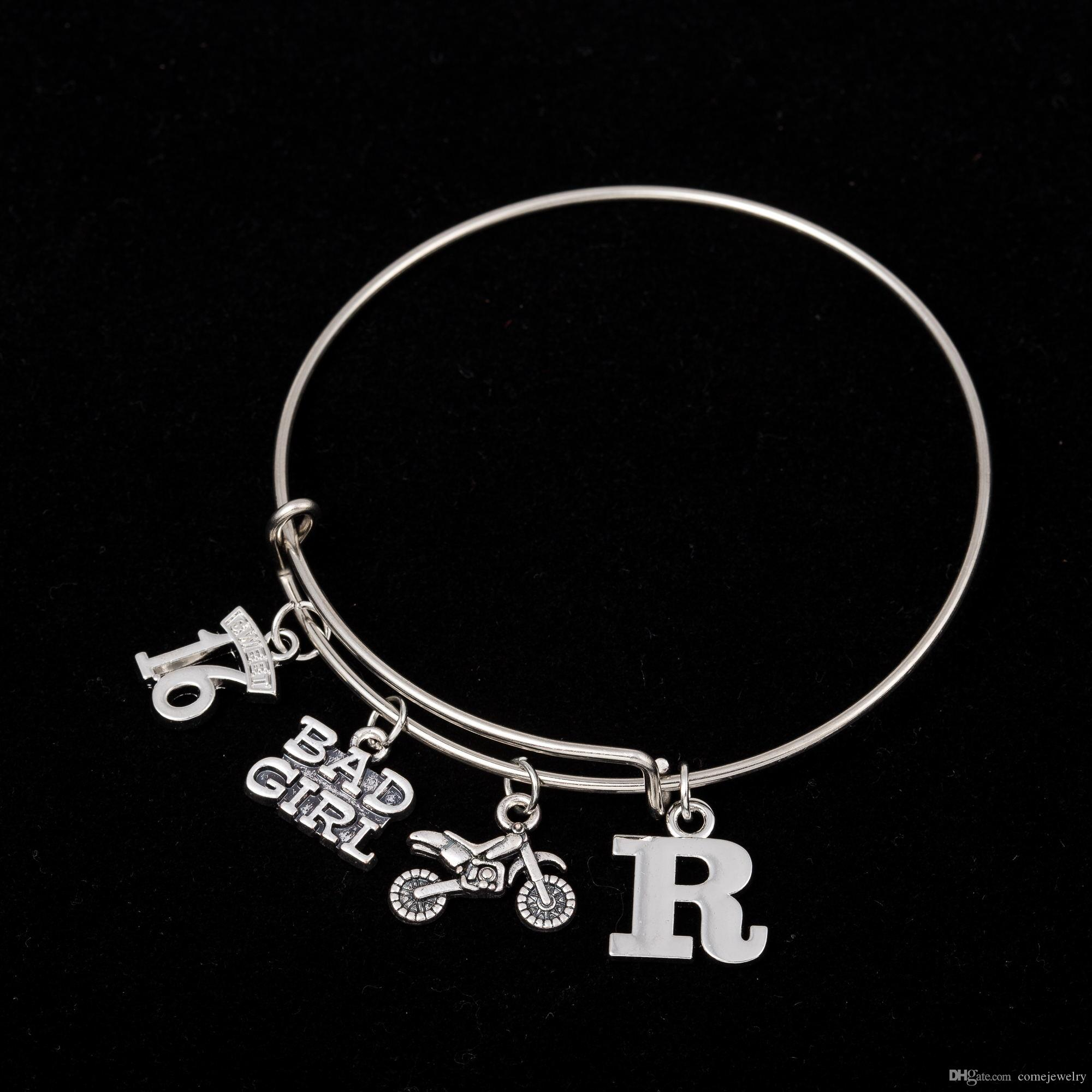 stainless bracelet gabriel charm silver sterling products with bangle steel bangles silverstainless bracelets