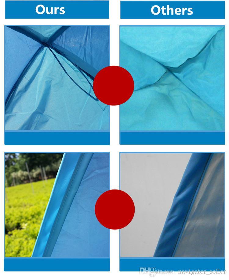 Tentes d'été camping en plein air abris pour 2-3 personnes UV protection tente pour plage voyage pelouse / expédition rapide