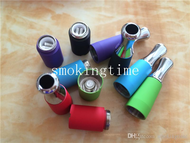 Colorful Vape Skillet Vaporizer Wax Dual Ceramic Rod coils Tank Vaporizer, Replacement Wax Skillet Atomizer Suit For EGO-B,EGO-C,EGO-T,EGO-w