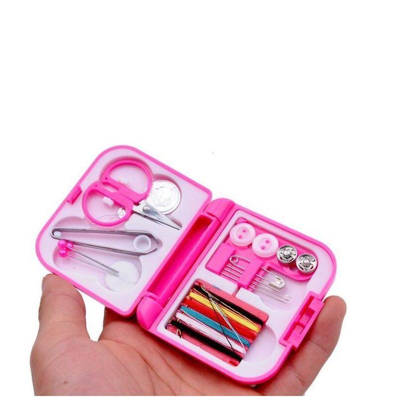 200 satz Tragbare Reise Nähgarn Gewinde Nadeln Mini Kunststoff Fall Schere Band Pins Gewinde Einfädler Set Haus Sewing Tools ZA0926