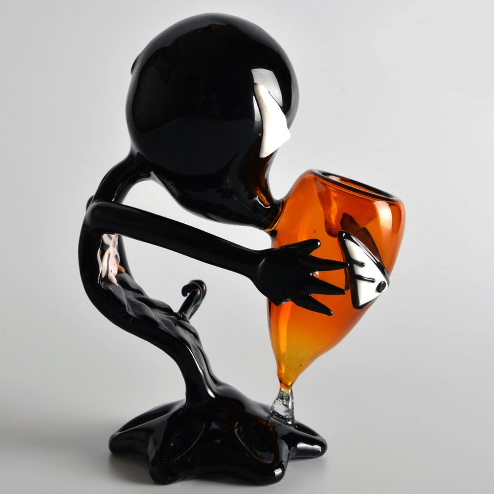 Black Alien Glass Pipes Glass Smoking Pipes High Quality Black Alien Glass Smoking Pipes